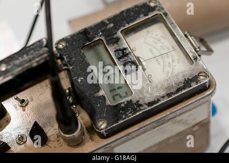 Vintage Ludium Model 2221 Radiation Scaler Ratemeter (Geiger counter) - USA - Stock Photo