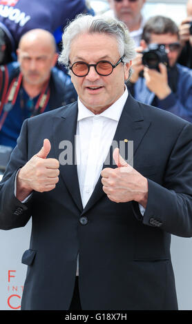 Cannes, France. 11th May, 2016. George Miller Director The Jury, Photocall. 69 Th Cannes Film Festival Cannes, France - Stock Photo