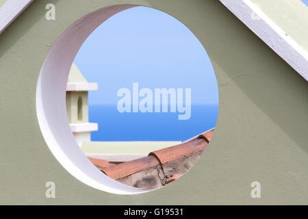 Häuserfassaden Modern gable roof modern house with a window stock photo royalty free