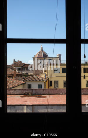 Florence, Italy. View of the Duomo from an office window - Stock Photo