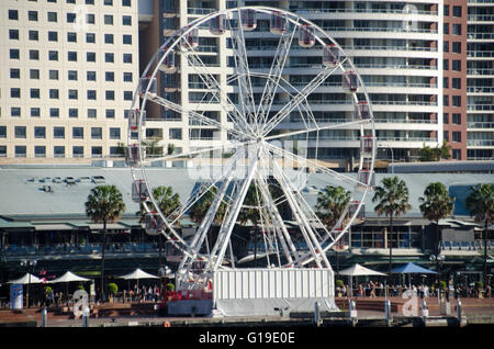Sydney, Australia - 27th June 2015: The Cool Yule Winter Festival opened in Darling Harbour Sydney on the 27th of - Stock Photo