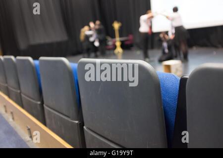 Children in a drama class at a UK school - Stock Photo