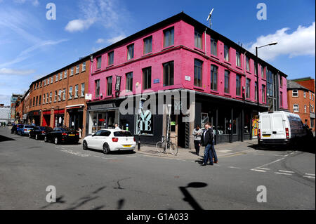 Hilton Street, Northern Quarter, Manchester, Tuesday May 10, 2016. - Stock Photo
