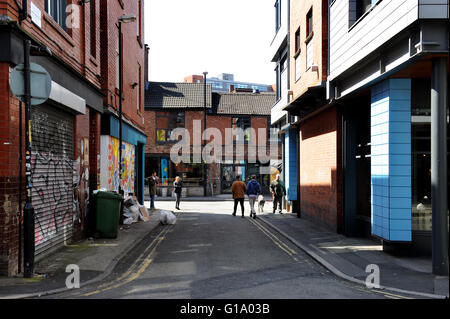 Back street, Northern Quarter, Manchester, Tuesday May 10, 2016. - Stock Photo