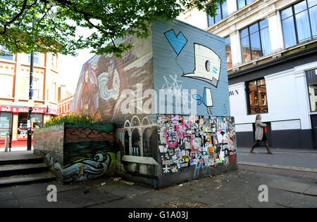 Northern Quarter, Manchester, Tuesday May 10, 2016. - Stock Photo