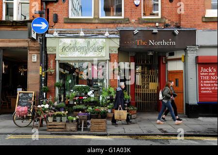 Tib Street, Northern Quarter, Manchester, Tuesday May 10, 2016. - Stock Photo
