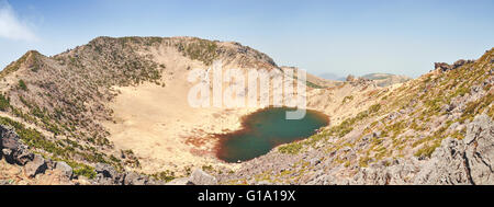 The Mt Hallasan volcano on Jeju Island in South Korea - Stock Photo