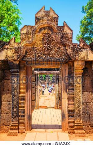 Prasat Banteay Srei temple ruins, UNESCO World Heritage Site, Siem Reap Province, Cambodia