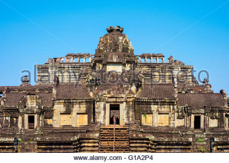 Baphuon temple ruins, Angkor Thom, UNESCO World Heritage Site, Siem Reap Province, Cambodia - Stock Photo