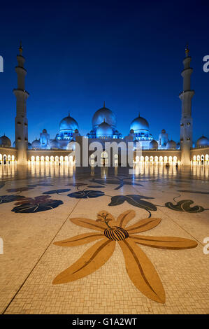 Sheikh Zayed Grand Mosque. Abu Dhabi - Stock Photo
