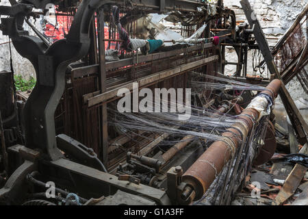 Old Weaving Machine - Stock Photo
