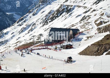 Artouste ski resort in the French Pyrenees - Stock Photo