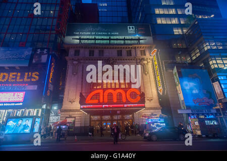 The AMC 25 Theatre in Times Square in New York on Tuesday, May 3, 2016. (© Richard B. Levine) - Stock Photo