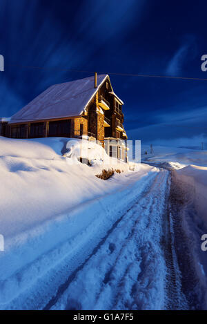 Eurasia, Caucasus region, Georgia, Gudauri ski resort - Stock Photo