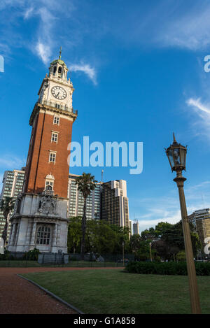 Torre Monumental, formerly Torre de los Ingleses, Plaza Fuerza Aérea Argentina, Retiro district, Buenos Aires, Argentina - Stock Photo