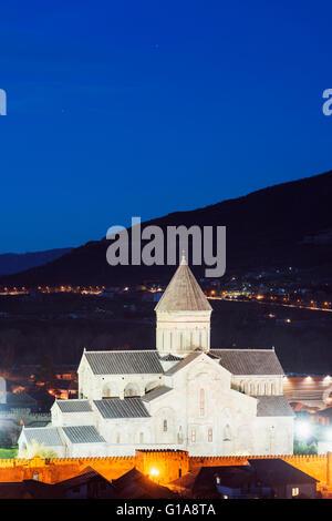Eurasia, Caucasus, Georgia, Mtskheta, historical capital, Svetitskhoveli Cathedral, 11th century, by Patriach Melkisedek - Stock Photo