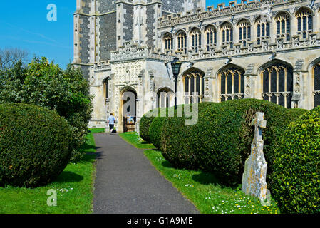 The parish church of St Peter and St Paul, in the village of Lavenham, Suffolk, England UK - Stock Photo