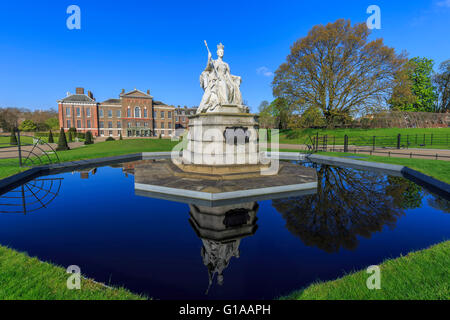 Beautiful Queen Victoria Statue around Hyde Park, London, United Kingdom - Stock Photo