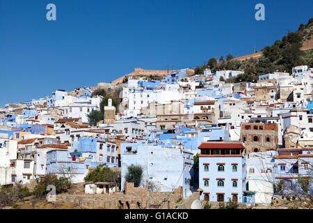 Old town of Chefchaouen, Rif mountains, Morocco - Stock Photo
