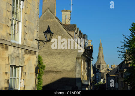 St Marys Church from Barn Hill. Stamford. Lincolnshire. England. UK - Stock Photo