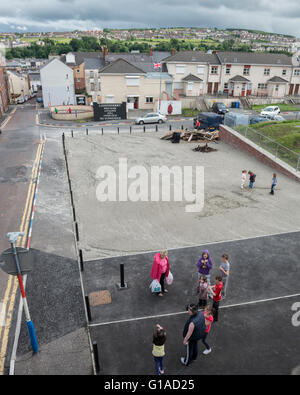 West bank viewed from the city walls. Derry Londonderry. Northern Ireland. UK. Europe - Stock Photo