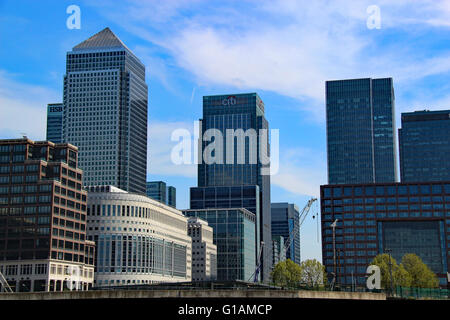 Canary wharf Thompson Reuters office London England Modern office buildings - Stock Photo