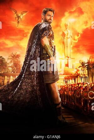 RELEASE DATE: February 26, 2016 TITLE: Gods of Egypt STUDIO: Fox Studios DIRECTOR: Alex Proyas PLOT: Mortal hero - Stock Photo