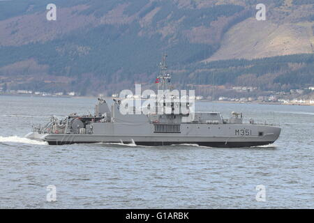 KNM Otra (M351), an Alta-class minesweeper of the Royal Norwegian Navy, departs for the start of Exercise Joint - Stock Photo