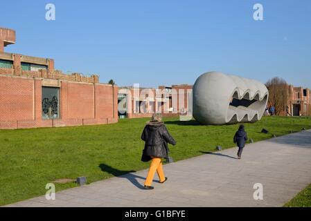 France, Nord, Villeneuve d'Ascq, LAM or Lille Metropole Museum of Modern Art, contemporary art and art brut, woman - Stock Photo