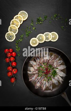 Marinated Anchovies - Stock Photo