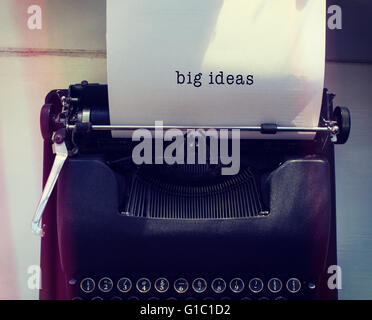 Composite image of big ideas message on a white background - Stock Photo