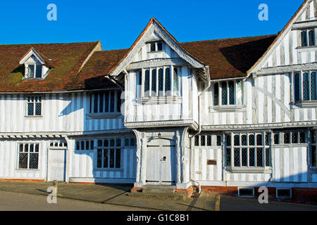 The Guildhall, a National Trust property in the village of Lavenham, Suffolk, England UK - Stock Photo
