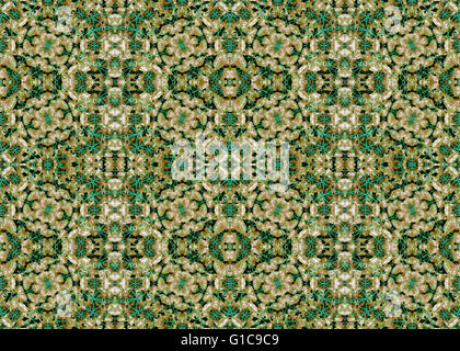 Digital collage and photo manipulation technique stylized floral boho style geometric seamless pattern design in - Stock Photo
