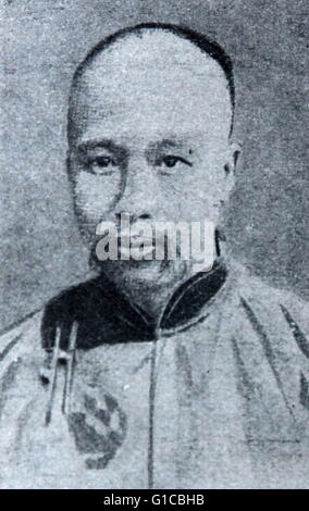 Photographic portrait of Kang Youwei (1858-1927) a Chinese scholar, noted calligrapher and prominent political thinker - Stock Photo