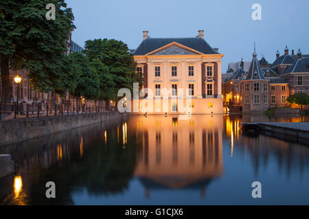 Mauritshuis Museum near Binnenhof Palace in Hague, Netherlands - Stock Photo