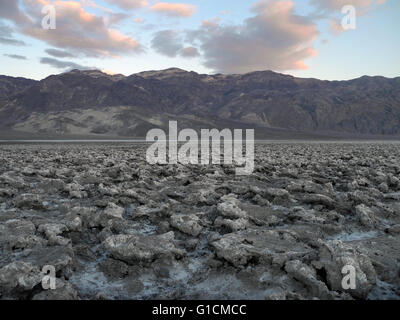 Devil's Golf at Nevada, California, USA  The Death Valley saltpan is one of the largest protected saltpans in North - Stock Photo