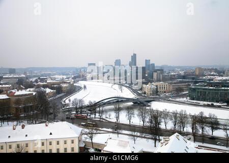 Vilnius landscape, winter, Lithuania, 2016 - Stock Photo