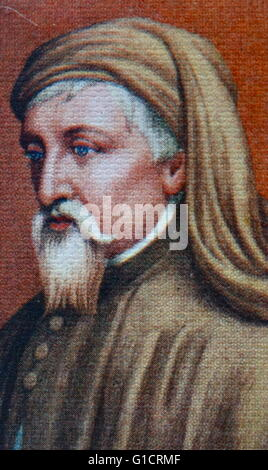 Geoffrey Chaucer (c. 1343 – 1400); known as the Father of English literature; is widely considered the greatest - Stock Photo