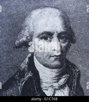 Portrait of Jean-Baptiste Lamarck (1744-1829) French naturalist. Dated 19th Century - Stock Photo