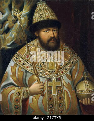 Aleksey Mikhailovich (1629 – 1676) Tsar Alexis I; of Russia. His reign saw the Russian invasion of Polish–Lithuanian - Stock Photo