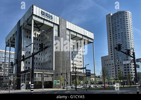 RBS Royal Bank of Scotland and Unilever Netherlands Dutch Town City  Rotterdam Weena, - Stock Photo