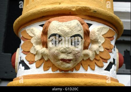 Hannoversch Muenden - medieval historical house. Hann. Münden in Germany, town, Lower Saxony.. Angel Face 2 of 4, - Stock Photo