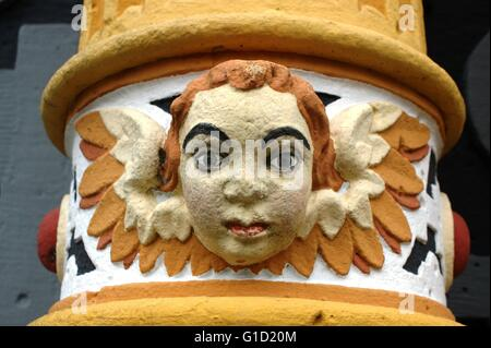 Hannoversch Muenden - medieval historical house. Hann. Münden in Germany, town, Lower Saxony.. Angel Face 1 of 4, - Stock Photo