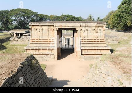 Underground Shiva temple at Hampi on India - Stock Photo