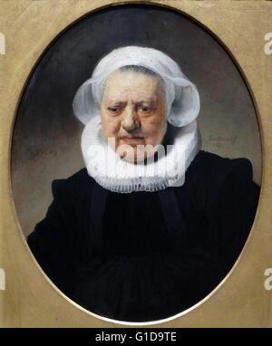 Rembrandt van rijn 1606-1669; Dutch painter. Portrait of Aechje Claesdr; 1634 - Stock Photo
