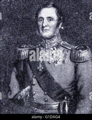 Field Marshal Fitzroy James Henry Somerset, lord Raglan (1788 – 1855), known before 1852 as Lord Fitzroy Somerset, - Stock Photo