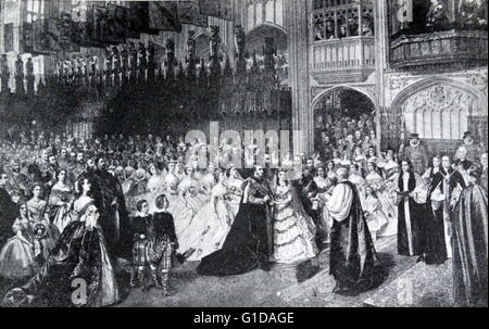 Marriage of Prince of Wales (later King Edward VII) to Princess Alexandra 1868 - Stock Photo