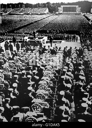 The Nuremberg Rallies were the annual rally of the Nazi Party in Germany, held from 1923 to 1938. They were large - Stock Photo