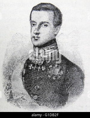 Charles Albert. He succeeded his father as King of Sardinia and pursued a policy of moderation despite declaring - Stock Photo