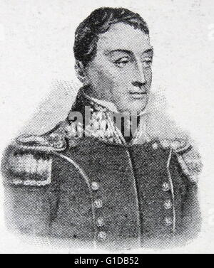 Portrait of Gilbert du Motier, Marquis de Lafayette (1757-1834) a French aristocrat and military officer who fought - Stock Photo